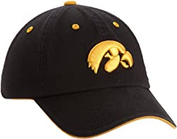NCAA Iowa Hawkeyes Adult Adjustable Hat, Black