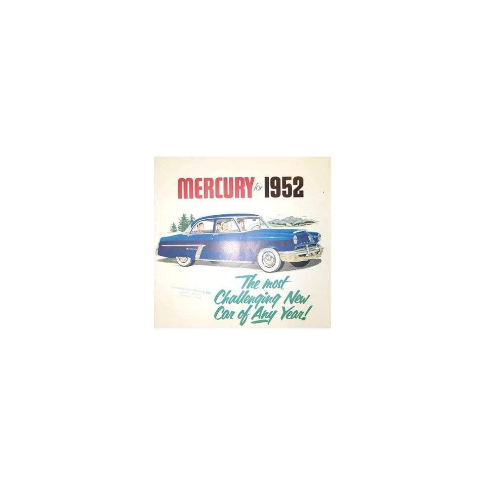 1952 Mercury Sales Brochure Literature Book Piece Advertisement Specs Options