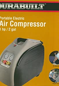 Durabuilt Portable Air Compressor 1 hp/2 gal