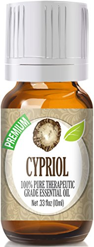 Cypriol 100% Pure, Best Therapeutic Grade Essential Oil - 10ml