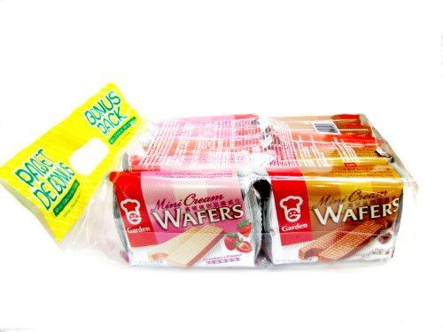 Garden Bonus Pack- Mini Wafer (Peanut, Strawberry, Chocolate) # B1811, 10-Count bag (Pack of 5)