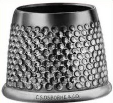 For Sale! C.S. Osborne Open End Sewing Thimble 3/4 Inches Size 11