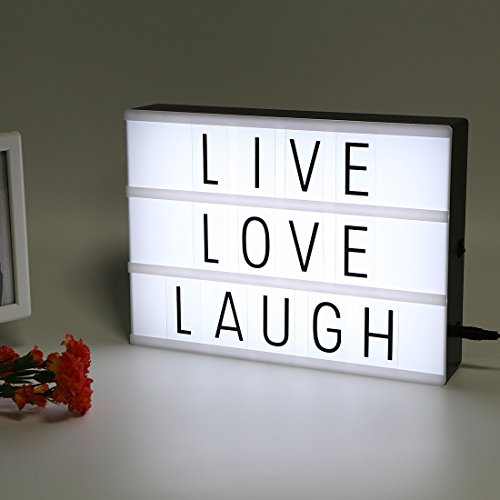 LitEnergy Light Up Your Life A4 Size Cinematic Letter Box with LED Light