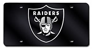 NFL Oakland Raiders Primary Logo License Plate Cover (Black Base) by Rico