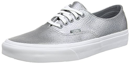 Vans Authentic Decon Scarpe da Ginnastica Basse, Unisex Adulto, Grigio (metallic Leather/gray), 38  EU