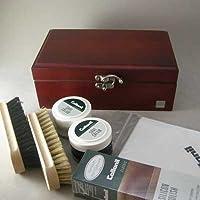 ナチュラルで丈夫な木箱セット 【Collonil コロニル】シューケアセット55  木のカラー:マホガニー(ドイツ製)