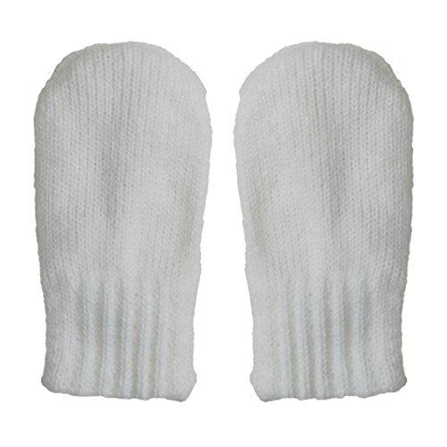 Baby toddler warm fall winter mittens fleece lined unisex (Mitten S: 0-9m, Cream)