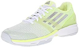 adidas Performance Women\'s Adizero Ubersonic W Training Footwear, White/Silver/Frozen Yellow, 9 M US
