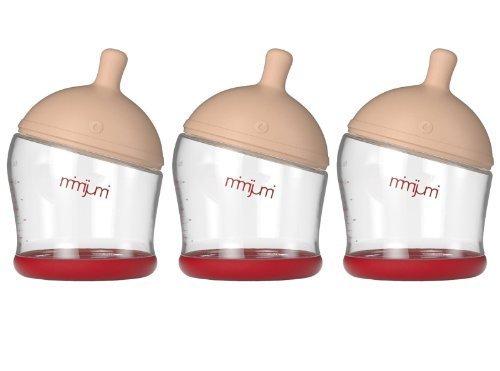 Mimijumi Breastfeeding Baby Bottle, 3 Pack - 4 oz. - 1