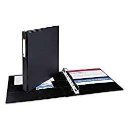 Avery® Durable Slant Ring Reference Binder w/Label Holder, 1in Capacity, Black