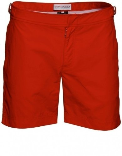 Orlebar Brown Men's Shorts Red Bulldog Mid Length 34