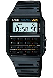 Casio Calculator Watch Water Resistant Dual Time Daily Alarm CA53W-1Z