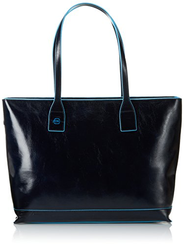 Piquadro Shopping Blue Square, 36 cm, Blu