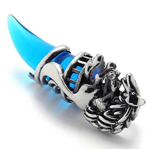 daesar-edelstahl-halskette-herren-anhanger-halskette-eidechse-schwarz-perle-20inch