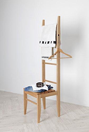kleiderstuhl eiche aus dem odenwald stummer diener handtuchleiter handtuchstuhl. Black Bedroom Furniture Sets. Home Design Ideas