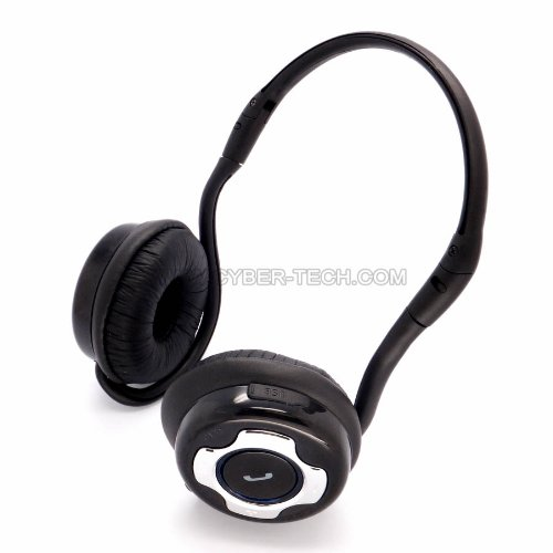 Britelink Bluetooth Stereo Headset With Microphone: Foldable Design For Portability, Back-Hang Style Provides Best Comfort For Long Time Wearing. -- By Cybertech®