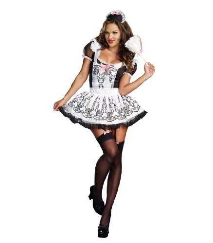 Dreamgirl Women's Sexy French Maid Plus Size Costume, Maid To Order