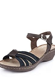 Suede Crossover Strap Sandals [T02-4513A-S]