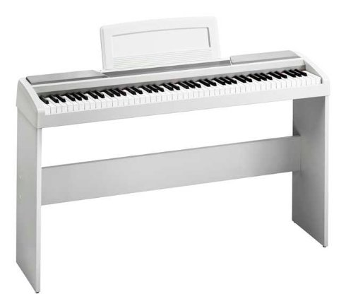 Korg Sp170S 88-Key White Digital Piano With Korg White Stand For The Sp170S