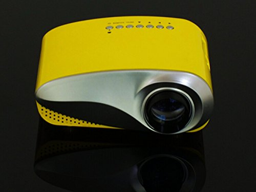 Osy Portable Multimedia Led Mini Projector Home Theater For Video Games Computer With Hdmi Sd Av Port Yellow