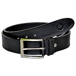 MOSPL Men's Leather Belt (OMBT3008_Black_32)