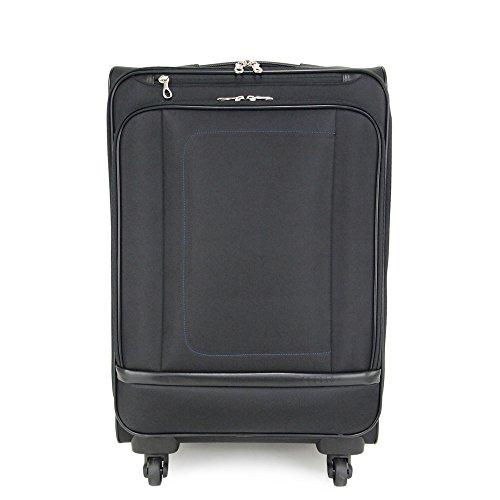 (ピジョール) PUJOLS 4輪トローリーケース/スーツケース/キャリーバッグ 42L レオ 45782 (ブラック(01))