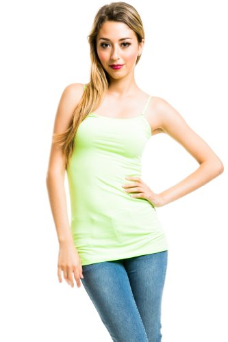 Adjustable Strap Tagless Camisole in Lime