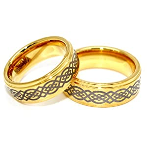 Tungsten celtic knot wedding bands see listing for sizes jewelry
