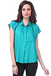 Sassafras Women's Shirt (SFSHRT2005L_Green_Large)