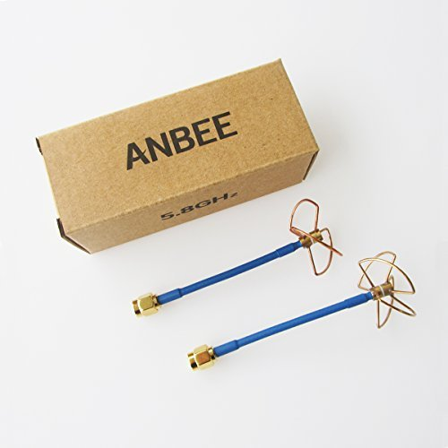 Anbee® FPV 5.8Ghz Circular Polarized Clover Leaf Antenna High Gain Aerial Set w/RP-SMA Plug - 1