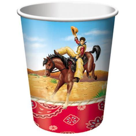 Rodeo Cowboy 9oz Cups