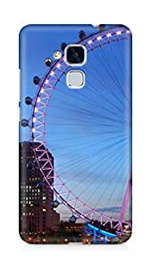 AMEZ designer printed 3d premium high quality back case cover for Huawei Honor 5C (giant wheel architecture)