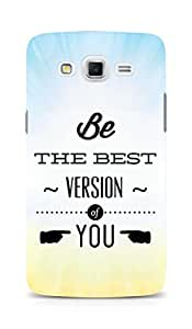 AMEZ Be the Best version of Yourself Back Cover For Samsung Galaxy Grand Max