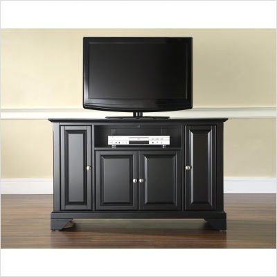"Crosley Furniture LaFayette 48"" TV Stand in Black Finish"