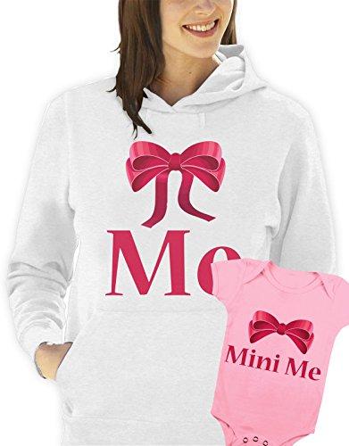 Sudadera-con-capucha-y-body-rosa-da-de-la-madre-me-mini-me-hombre-mujer-todas-las-tallas-S-M-L-XL-Camiseta-by-tshirteria-XXL-blanco-TallaSmall-donna-18-24-mesi