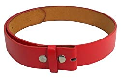 JTC Belts Faux Leather Belt For Buckles Many Colors. Red. Large