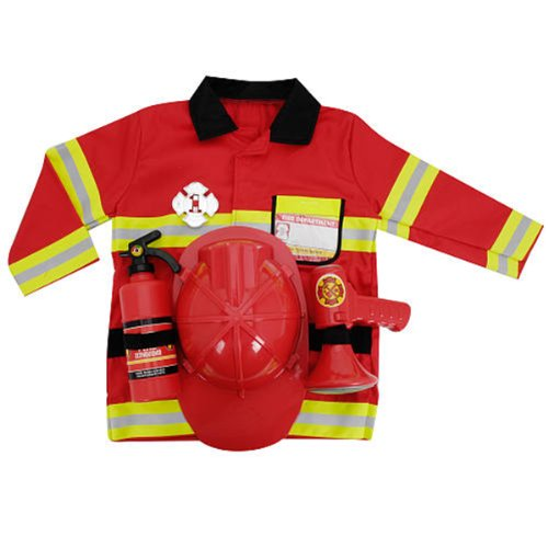 YazyCraft Fire Fighter Role Play Costume Set