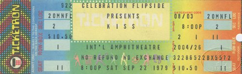 KISS 1979 Unused Concert Ticket International Amphitheatre Chicago (Chicago Concert Tickets compare prices)