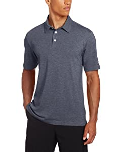 Adidas Golf Mens Climalite Heathered Jersey Polo by adidas
