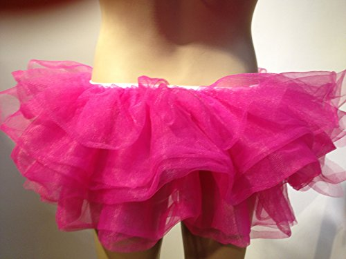Wingeler Women Tutu Skirt Dress Adlut Ballerina Hot Pink