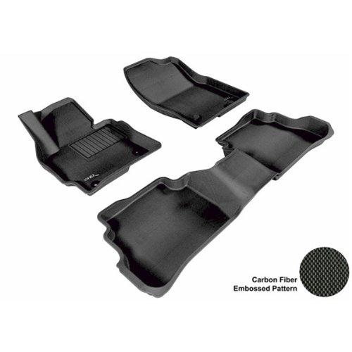 3D Maxpider Complete Set Custom Fit All-Weather Floor Mat For Select Mazda Cx-5 Models - Kagu Rubber (Black)