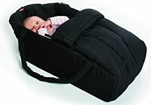 Phil and Ted's Vibe Cocoon Baby Sleeper in Black