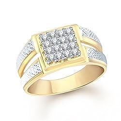 V. K. Jewels Gold Brass Ring Men (Vkfr1104G18)