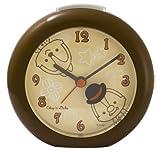 Disney 目覚まし時計 チップとデール アナログ表示 ライト付き ブラウン DIA-5519-CD