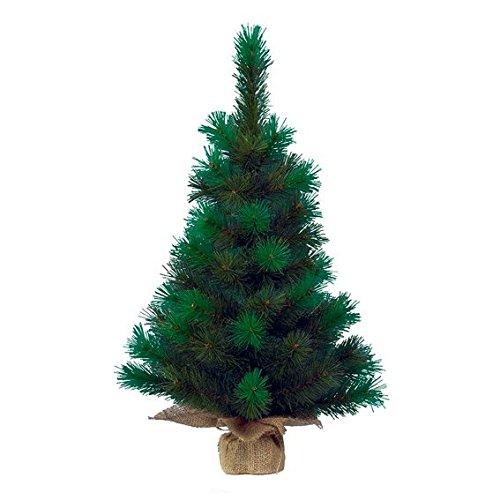 Kaemingk 681157 Mini-Baum Vancouver mit Jutesack, Hartnadel PVC, innen, Höhe 75 cm thumbnail