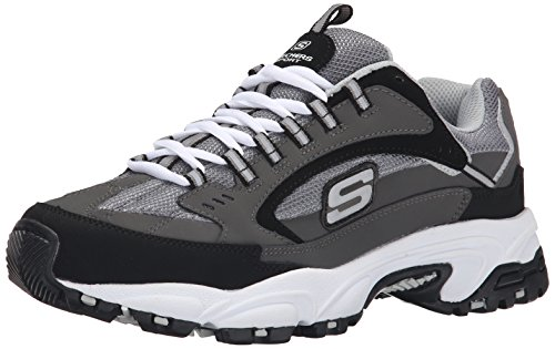 Skechers Sport Men's Stamina Cutback Oxford, Charcoal Cutback, 11 M US
