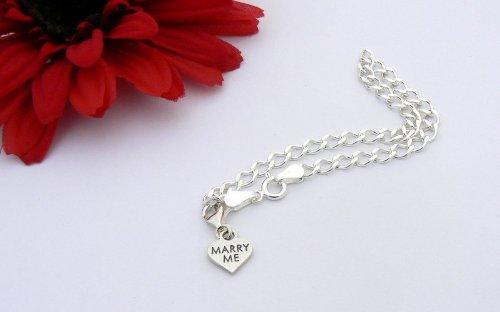 Marry Me Heart Sterling Silver Charm Bracelet