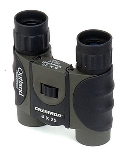 Celestron Outland 8X25 Compact Waterproof Binoculars With Rubber Coating & Comfort Grip