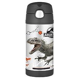 12oz Funtainer Straw Thermos Bottle Jurassic Park