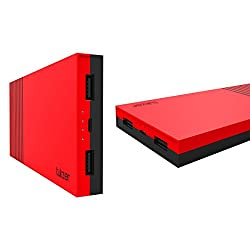 Tukzer 15000mAh Power Bank High Quality Li-Polymer External Battery With Dual USB 2.0A Output (Red)
